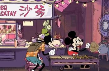 Menggemaskan, Film Pendek Ini Tampilkan Adegan Mickey Mouse Berdagang Sate
